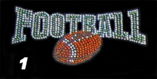 Football Rhinestone Transfer Design
