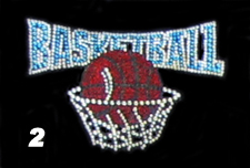 Basketball Rhinestone Transfer Design
