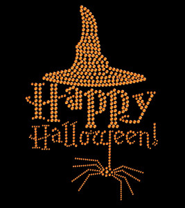 Happy Halloween Rhinestone Heat Transfer