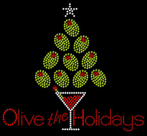 Holiday Rhinestone Heat Transfer Design