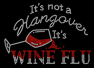 Wine Rhinestone Heat Transfer Design
