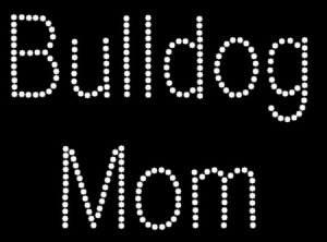 Bulldog Mom Rhinestone Heat Transfer