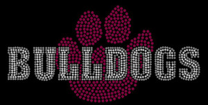 Bulldogs Paw Rhinestone Heat Transfer