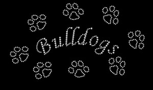 Bulldogs Rhinestone Heat Transfer