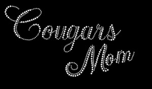 Cougars Mom Rhinestone Heat Transfer