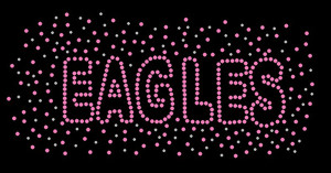 Eagles Splash Rhinestone Heat Transfer