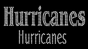Hurricanes Rhinestone Heat Transfer