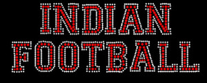 Indians football Rhinestone Heat Transfer
