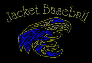 Jackets Baseball Rhinestone Heat Transfer