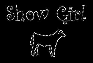 Show Girl Rhinestone Heat Transfer