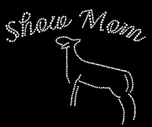 Show Mom Rhinestone Heat Transfer