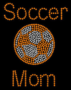 Soccer Mom Rhinestone Heat Transfer