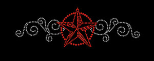 Star Rhinestone Heat Transfer