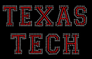 Texas Tech Rhinestone Heat Transfer