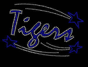 Tigers Rhinestone Heat Transfer