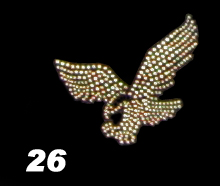 Falcon Rhinestone Heat Transfer Design